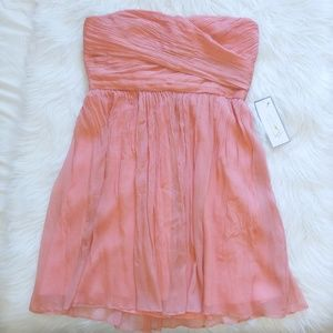 J. Crew silk chiffon mini dress